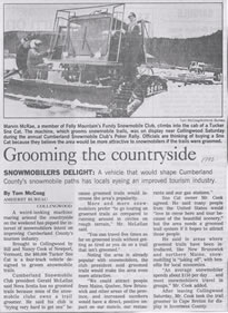 1992 Tucker Sno Cat Groomer